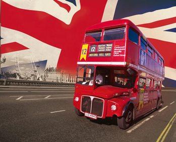 Decoração de parede London - Red Bus