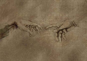 Papel de parede Michaelangelo Creation of Adam