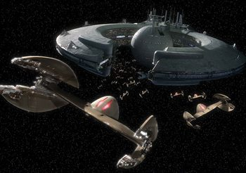 Papel de parede Star Wars Droid Control Ship Lucrehulk