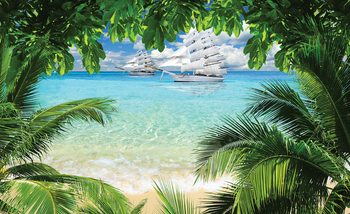Papel de parede Tropical Beach Island