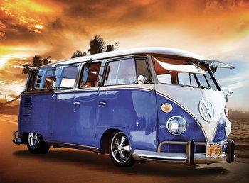 Decoração de parede Volkswagen - Camper Van Sunset