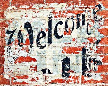 Decoração de parede Welcome
