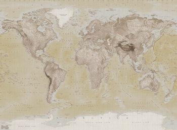 Decoração de parede World Map - Neutral