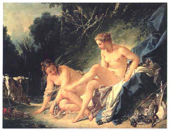Diana Leaving Her Bath Reproduction d'art