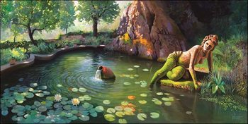 Fontana di Venere Reproduction d'art