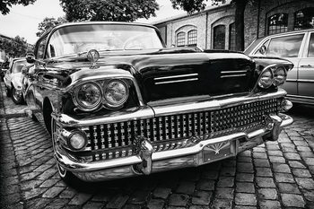 Glass Art Cars - Black Cadillac