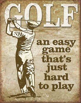 Golf - Easy Game Plaque métal décorée