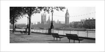 Houses of Parliament & The River Thames Reproduction d'art