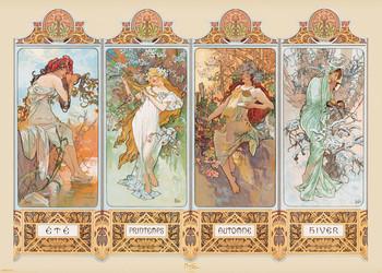 Juliste Alfons Mucha - four seasons