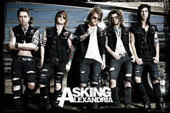 Juliste Asking Alexandria - bus