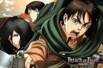 Juliste Attack on Titan (Shingeki no kyojin) - Scouts