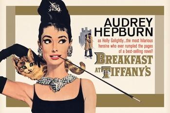 Juliste AUDREY HEPBURN - gold one sheet