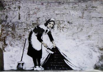 Juliste Banksy Street Art - Cleaning Maid