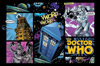 Juliste Doctor Who - Comic Layout
