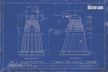 Juliste  Doctor Who - Dalek Blueprint