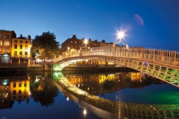 Juliste Dublin - Halfpenny Bridge Landscape