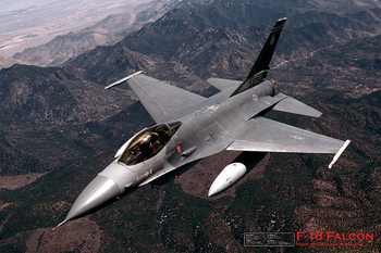 Juliste F16 Fighting falcon - airplane