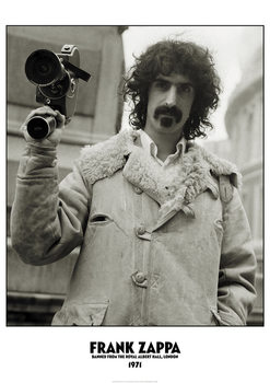 Juliste Frank Zappa - Banned from The Royal Albert Hall, London 1971