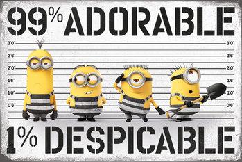 Juliste  Itse ilkimys (Despicable Me) 3 - 99% adorable 1% Despicable