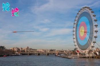 Juliste Lontoo 2012 olympics - on target