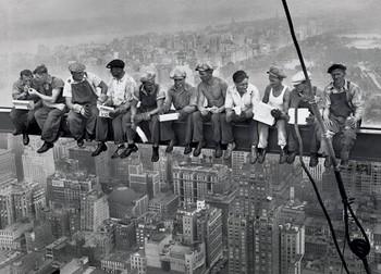 Juliste Lunch on a skyscraper