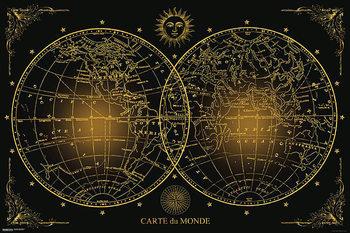 Juliste Maailman kartta