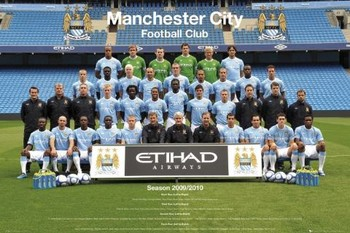 Juliste Manchester City - Team 09/10
