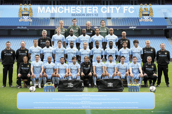 Juliste Manchester City - Team 11/12
