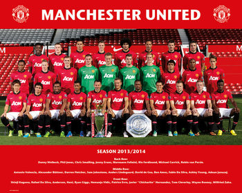 Juliste Manchester United FC - Team Photo 13/14