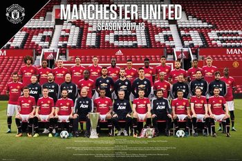 Juliste Manchester United - Team Photo 17-18
