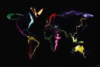 Juliste Michael Tompsett - World map