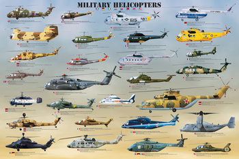 Juliste Military helicopters
