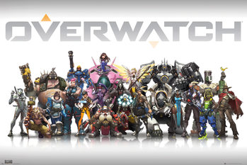 Juliste Overwatch - Characters Centred
