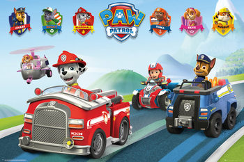 Juliste Paw Patrol - Vehicles