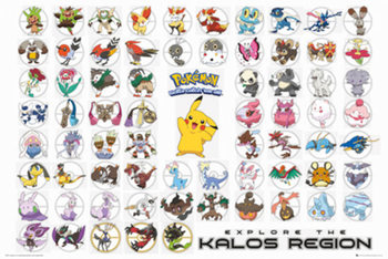 Juliste Pokemon - Kalos Region