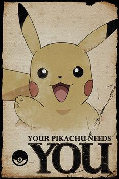 Juliste Pokemon - Pikachu Needs You