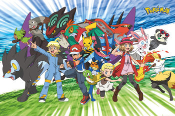 Juliste Pokemon - Traveling Party