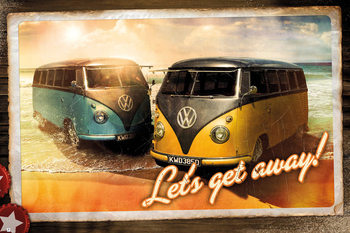 Juliste VW Camper - Let's Get Away