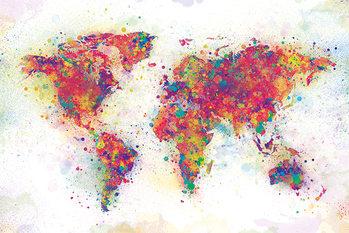 Juliste World Map - Colour Splash