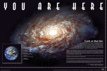 Juliste You Are Here - Space