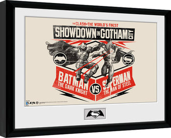 Batman Vs Superman - Battle Kehystetty juliste