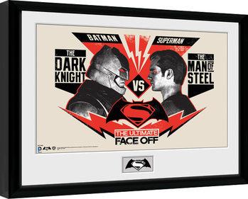 Batman Vs Superman - Face Off Kehystetty juliste