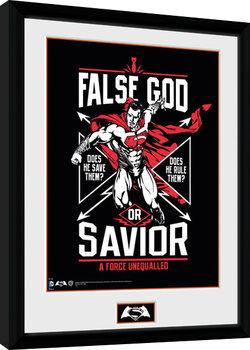 Batman Vs Superman - False God Kehystetty juliste