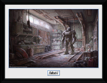 Fallout 4 - Red Rocket Interior kehystetty lasitettu juliste