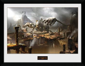 God of War - Concept Art Canyon kehystetty lasitettu juliste