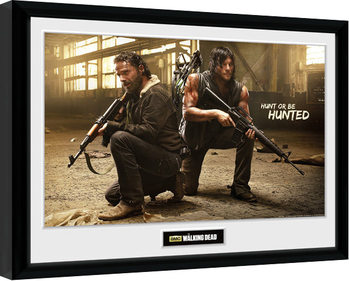 The Walking Dead - Rick and Daryl Hunt Kehystetty juliste