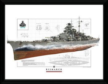 World Of Warships - Bismark Kehystetty juliste