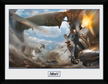 Fallout 4 - Virtibird Door Gunner Kehystetty lasitettu juliste