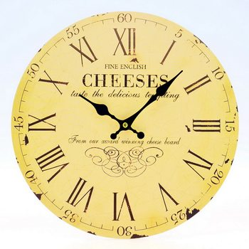 Design Clocks - Cheeses Kello