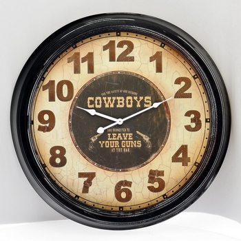 Design Clocks - Cowboys Kello